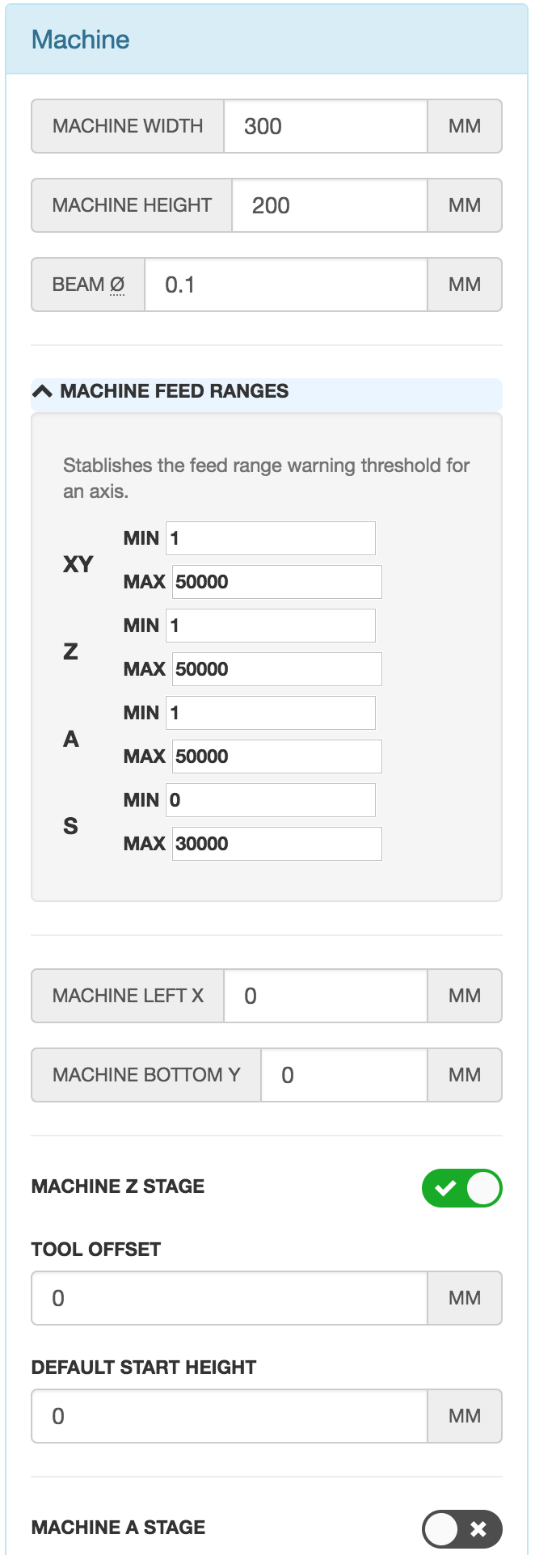 Machine Settings1