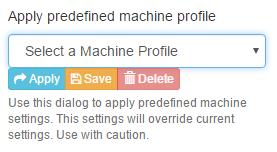 Machine Profile Selection